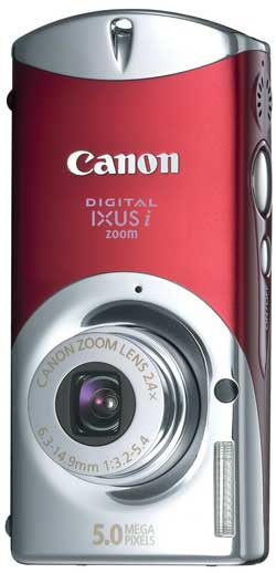 Canon Digital IXUS i zoom Red
